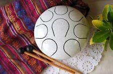 WuYou Steel Tongue Drum Handpan Chakra Drum,7in Fine Hand tuned, Sound healing