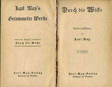Karl May, Durch die Wüste, 85. - 90. Tausend, Karl-May-Verlag Radebeul, 1915