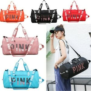 丨Pink Gym Duffle Bag Waterproof Large Sequins Bags Travel Duffel Bags with Shoes