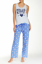 NEW with Tags Hello Kitty Pajama Set Tank Top and Pants Juniors Size Large XL
