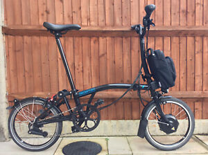 ELECTRIC BROMPTON M6L BLACK E BIKE BICYCLE - WORLDWIDE POSTAGE