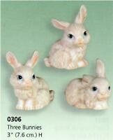 Set of 3 Easter Bunny Rabbits *Ceramic Bisque Ready to Paint