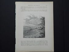 One In-Text Engraving, c 1872 S4#152 Mark Rock Landing, Rhode Island