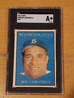 1961 Topps #480 Roy Campanella MVP SGC A Newly Graded New York Yankees PSA ?