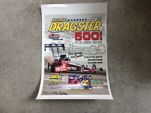 NHRA NATIONAL DRAGSTER MAGAZINE COVER REPRODUCTION OCTOBER 25 2002 SIGNED