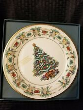 Lenox Annual Christmas Tree Plate 1998 America w/Box Made in Usa - Excellent