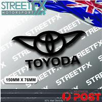 Toyoda Sticker Black for Toyota Supra Soarer Corolla Prius Camry Yaris 86 Avalon
