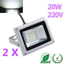 2X 20W LED Cool White SMD Flood Light Outdoor Garden Lamp High Power 220V IP65