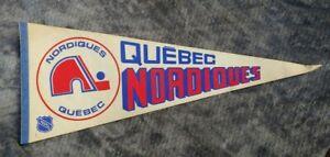 QUEBEC NORDIQUES NHL Hockey FULL SIZE PENNANT Flag VINTAGE Memorabilia 1980s