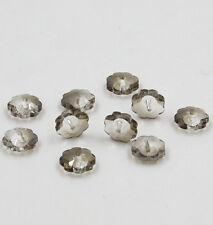 12pieces Swarovski 10mm Middle hole Plum Blossom Crystal bead B Gray
