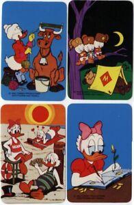 4 Disney Daisy Grandma Donald Duck Vintage Original SINGLE Blank Back Swap Cards
