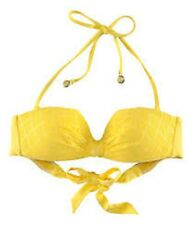 NWT H&M BEYONCÉ as Mrs Carter in H&M Yellow Bikini Top With Perforated Pattern 4