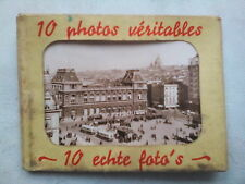 BRUSSELS.MINI PHOTOGRAPH SET,10 DELUX,1940-50 ?,B/W PHOTOS NEW