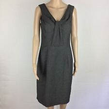 Veronika Maine Grey Check Dress Size 10 Work Office (AK14)