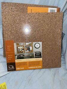 "Quartet Cork Tiles Cork Board, 12"" x 12"", Corkboard, Wall Bulletin Boards 12 Pcs"