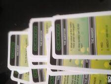 Ben 10 Game. Conjunto de 27 Tarjetas de Energy. Genuino Sub Cartoon Network Piezas de juego.