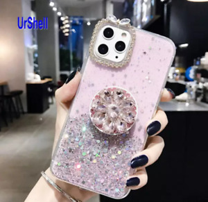 BLING GLITTER CASE FOR IPHONE 11 12 X/XS,XR/XSMAX/,MINI,PRO MAX WITH RING HOLDER