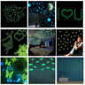 DIY 100Pcs Star / 1 Moon Glow In The Dark Plastic Stickers Ceiling Wall Bedroom