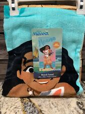 Moana Beach Towel Blue - Moana 28 x 58 NWT