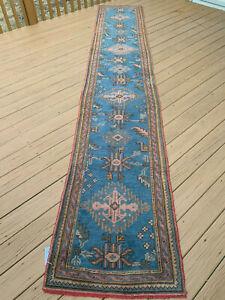 Wool rug Oushak rug patchwork Blue runner rug Vintage turkish rug runner rug runner rug Handmade rug Vintage oushak rug runner 2x6/'2