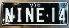 """NINE-14""  VIC. PERSONALISED REGO. PLATES - FOR PORSCHE 914"