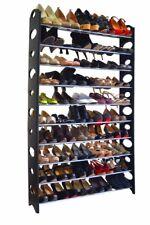 Adjustable 50 Pair 10 Tier Shoe Tower Rack Space Saving Storage Organizer