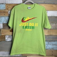 """Vintage Nike Jamaica """"Just Do It Later"""" Parody Spoof Funny Comedy T-Shirt Large"""
