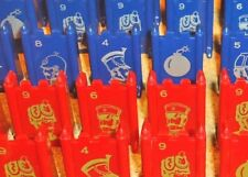 PICK 3 STRATEGO SOLDIERS - RED & BLUE GAME BOARD PIECES