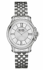 Bulova Accutron Ladies' 63R145 Accu Swiss Diamond Quartz Stainless Steel Watch