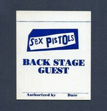 Original and Rare 1978 Sex Pistols U.S. Tour Unused Back Stage Guest Pass