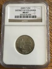 2009 P District Of Columbia Quarter NGC MS67 Business Strike