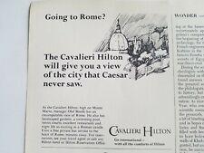 1965 Cavalieri Hilton Hotel view of city that Caesar never saw ad