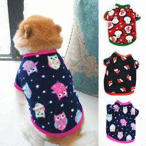 Dog Clothes Dog Sweater  Autumn Winter Warm Short Sleeve Fleece O Neck Pullover