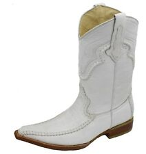 Men genuine cowhide elephant print cow boy boots snip toe