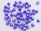 200x Wholesale 4mm Bicone Faceted Crystal Glass Loose Spacer Beads Royal BlueAB
