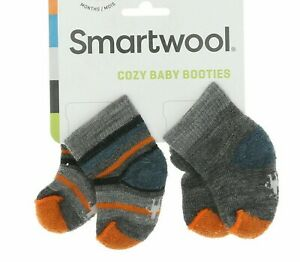 """Smartwool Cozy Baby Infant Booties Socks 2 Pairs Pack 0-6 Months """"Bootie Batch"""""""