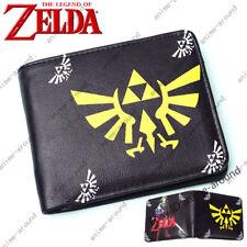 Legend of Zelda Skyward Sword Wallet Short Bifold Purse Black Card Holder Gift