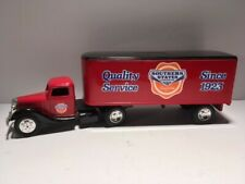 ERTL 1937 Ford Tractor Trailer Southern States Cooperative Diecast Truck Bank