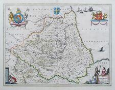 1645-62 Episcopatus Dunelmensis Vulgo The Bishoprike Of Durham Map by BLAEU