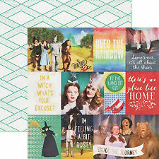 Paper House WIZARD OF OZ 12x12 Dbl-Sided Scrapbooking Paper 3x4 4x6 Cards