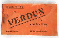 "FRANCE. 20 POSTCARDS IN BOOK OF ""VERDUN"" GREAT WAR 1914/1918"