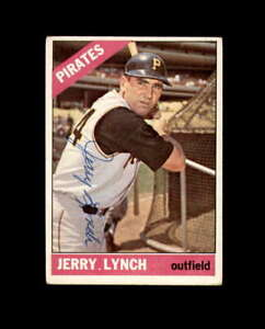 Jerry Lynch Hand Signed 1966 Topps Pittsburgh Pirates Autograph