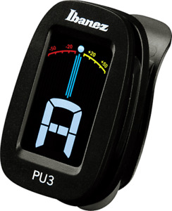 IBANEZ Clip-On Tuner PU3 black Profi Stimmgerät für Gitarren uvm.