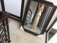 Gold Sequin Bridesmaid  Prom Dress
