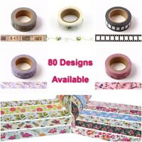 Premium Washi Tape Decorative Craft Paper Masking Sticky Planner Tape 80 Designs