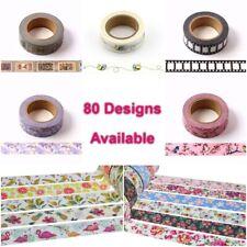Premium Washi Tape Decorative Craft Paper Masking Sticky Planner Tape 80 Designs