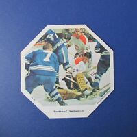 ROGATIEN VACHON  TIM HORTON  1967-68 York Octagons # 31 Canadiens Maple Leafs NM