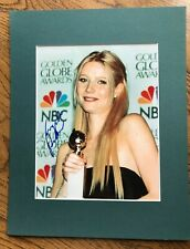 GWYNETH PALTROW, Signed 11 x 14 Matted Photo, Golden Globe Awards, COA