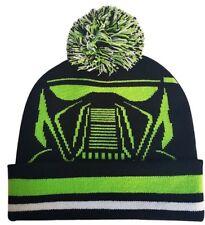 DEATH TROOPER BIG FACE DISNEY Star Wars - Knit Pom Beanie - Ugly Sweater Hat OS