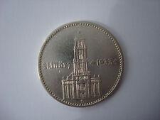 2 Reichsmark 1934-D German Hitler Silver Coin Third Reich Nazi Swastika XXX-RARE